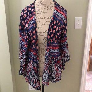 Xhiliration Floral Kimono